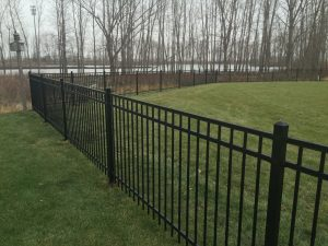 4' 3 Rail Flat Top Ornamental Iron