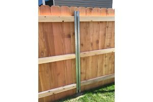 6' DE Cedar with Postmaster Steel Posts